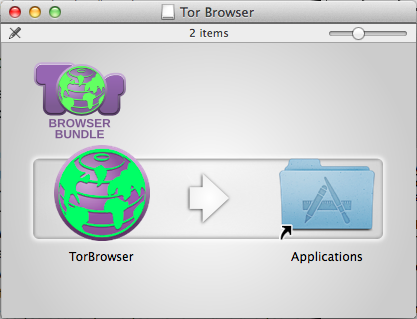 Drag the TorBrowser into your Applications folder before opening it.